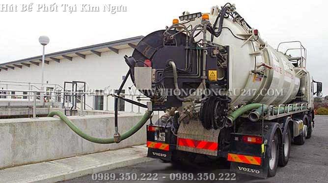 Công trình hút bể phốt tại công ty Tân Tiến