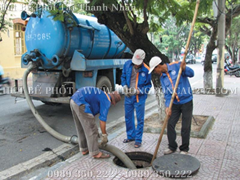 Công trình hút bể phốt tại Thanh Nhàn